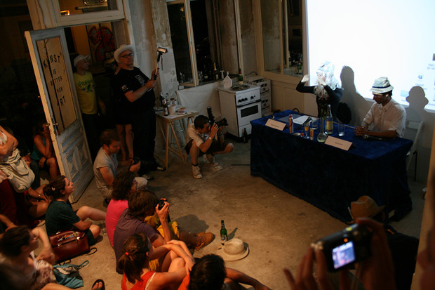 Presentation of The Powers of Art Tv show, Hotel 25 Gallery space, Berlin
