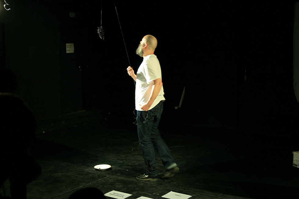 Performance by Jörn Burmester, Accud Theater, Berlin
