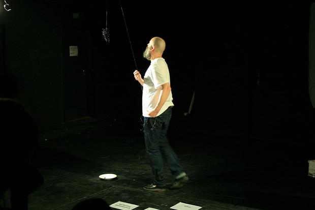 Performance by Jörn Burmester, Accud Theater, Berlin
