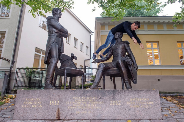 A Meeting in Turku in 1812 monument (Prince Joan od Sweden and Csar Alexander I of Russia)  /  Turku, Finland