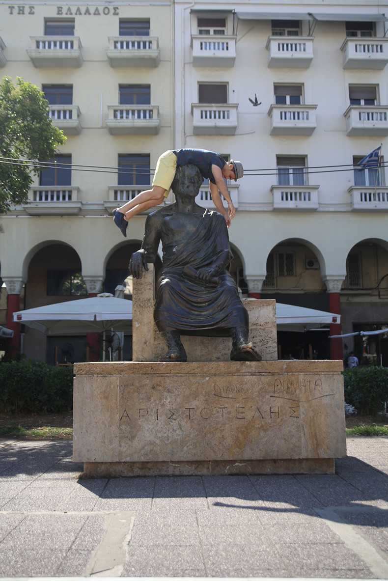 Aristoteles statue  /  Thessaloniki, Greece