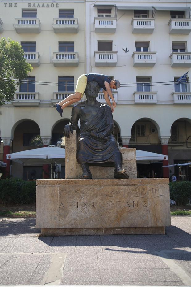 Aristoteles statue  /  Thessaloniki, Greece