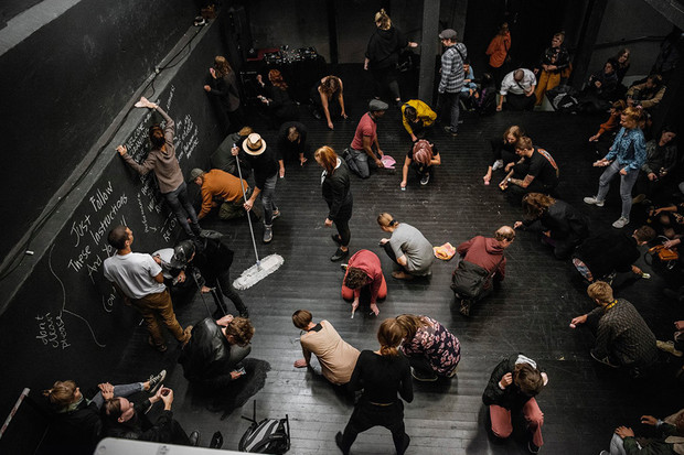 Performance by Anthea Moys (South Africa), Thedas Theater, Turku, Finland