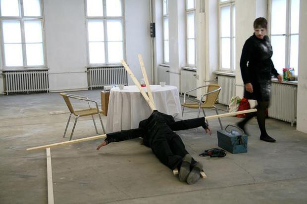COLAB 5  /  Performance by Leena Kela (Finland) and Tomasz Szrama (Poland)  /  Freies Museum Berlin