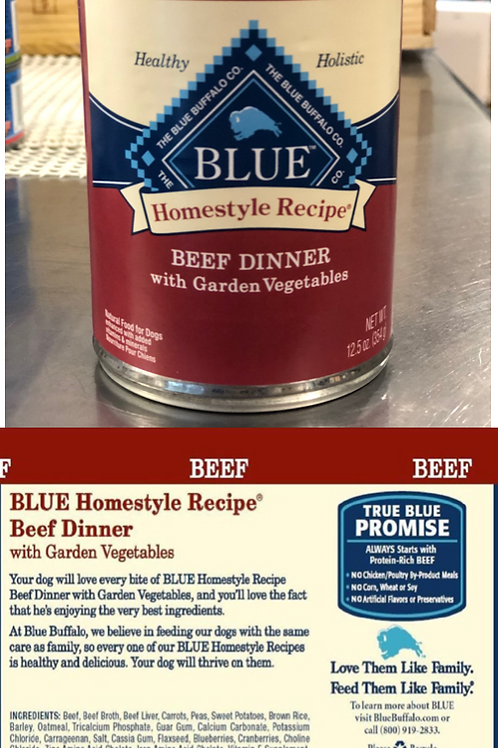 Blue Homestyle Recipe - Adult Dog Food - Beef Dinner with Garden Vegetables