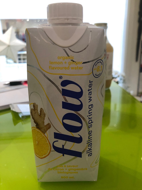 Flow Alkaline Spring Water - Organic Lemon + Ginger Flavoured Water
