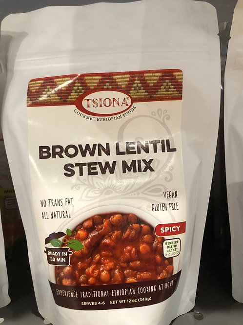 Spicy Brown Lentil Stew Mix