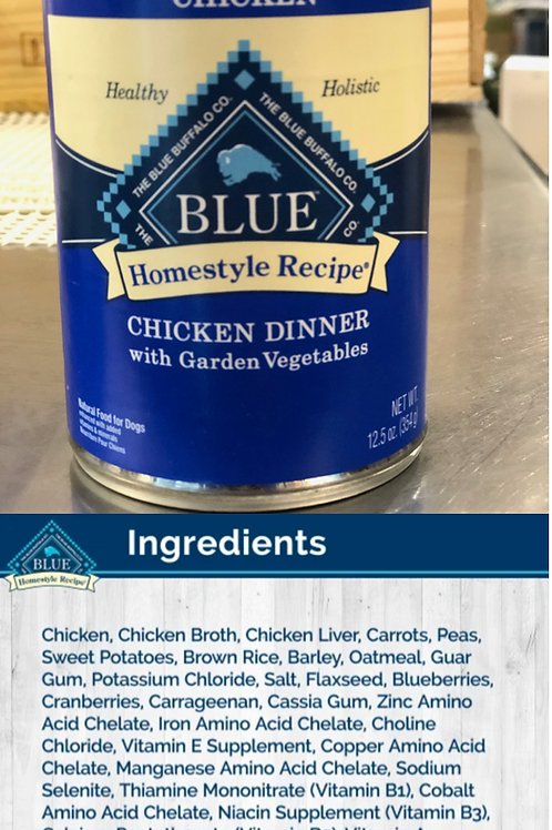 Blue Homestyle Recipe - Adult Dog Food - Chicken Dinner with Garden Vegetables