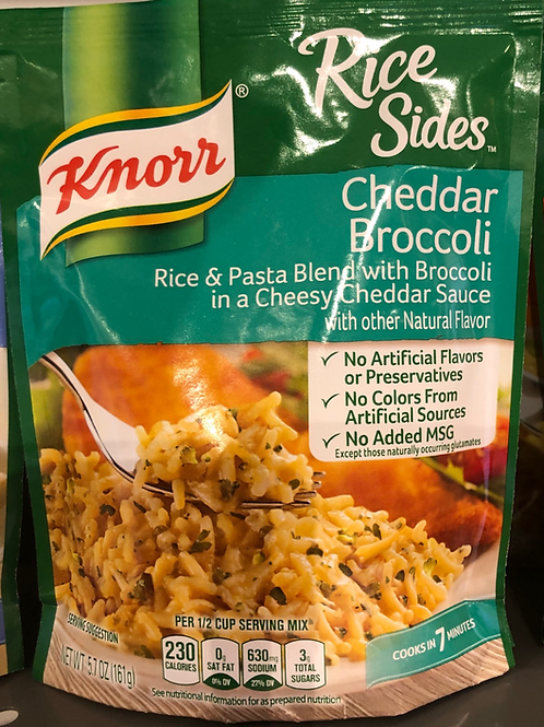 Knorr - Cheddar Broccoli Rice & Pasta Blend with Broccoli in a Cheesy Cheddar