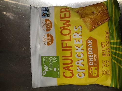 Cauliflower Crackers - Cheddar Flavor