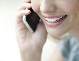 talking on phones