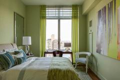 Penthouse Green Bedroom