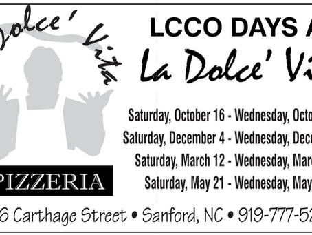 Enjoy Great Local Food and Support LCCO
