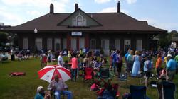 Depot Park audience