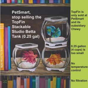 TopFin Stackable Studio Betta Tank 0.25 gal