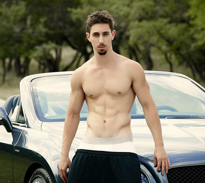 Jake Orion In Shorts Posing
