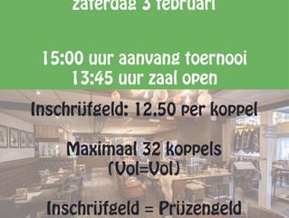 Vossenberg Koppel darttoernooi!