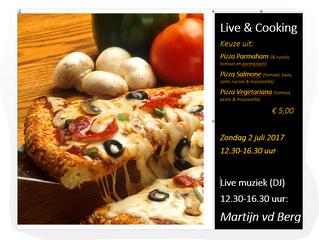 Live muziek & Live cooking zondag 2 juli!