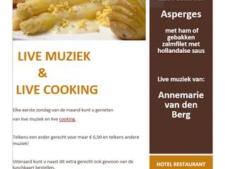 Zondag 7 april Live Muziek & Live Cooking! Asperges!!