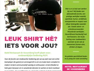 Hotel Restaurant de Vossenberg heeft plaats voor:                                      medewerk(st)
