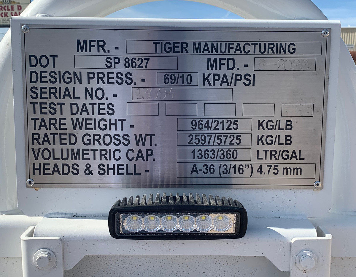 Tiger Manufacturing 6-Pack Chemical Tanks
