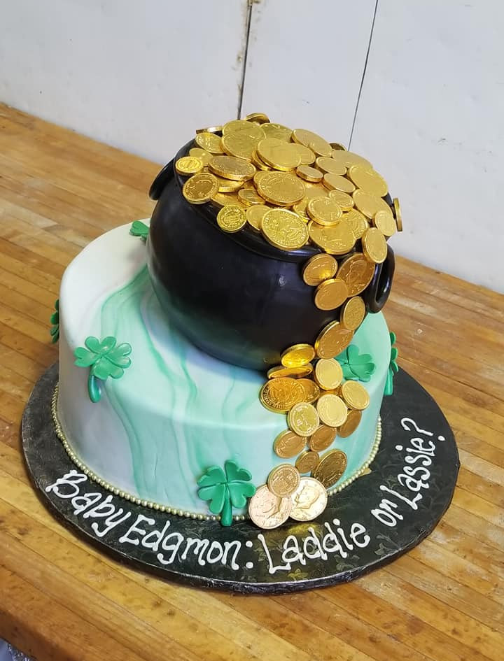 St. Patrick Day baby shower cake