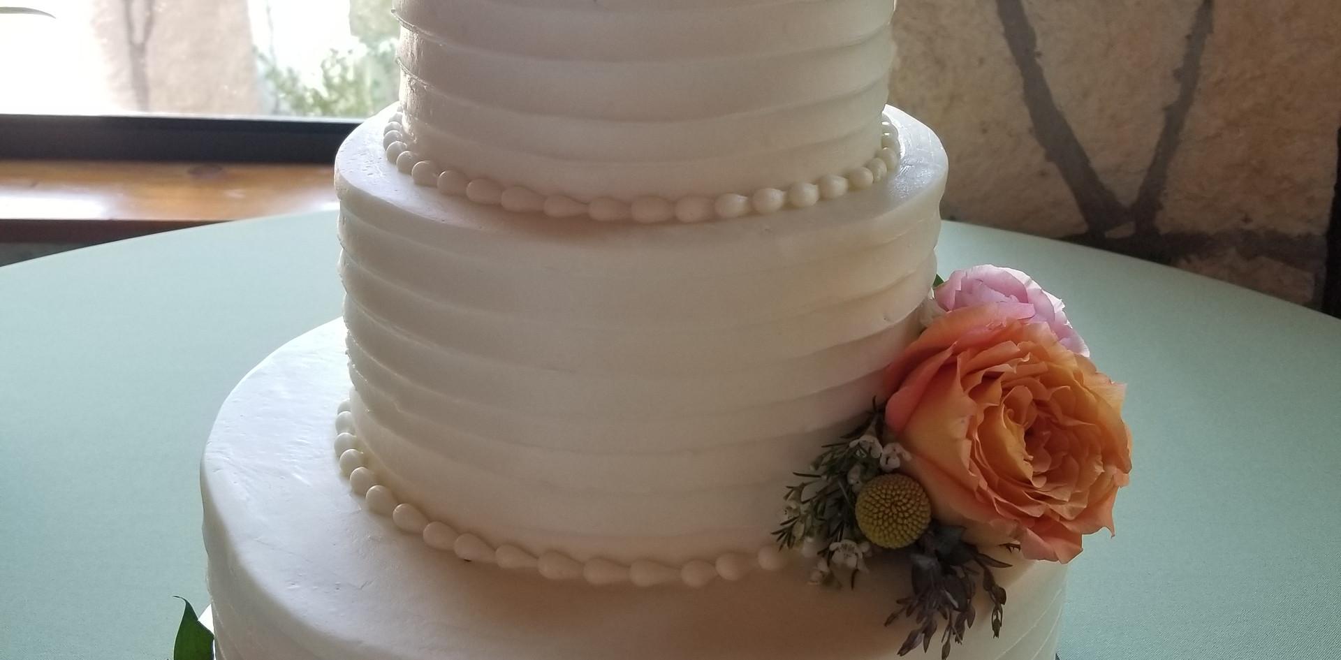 Palette knife wedding cake