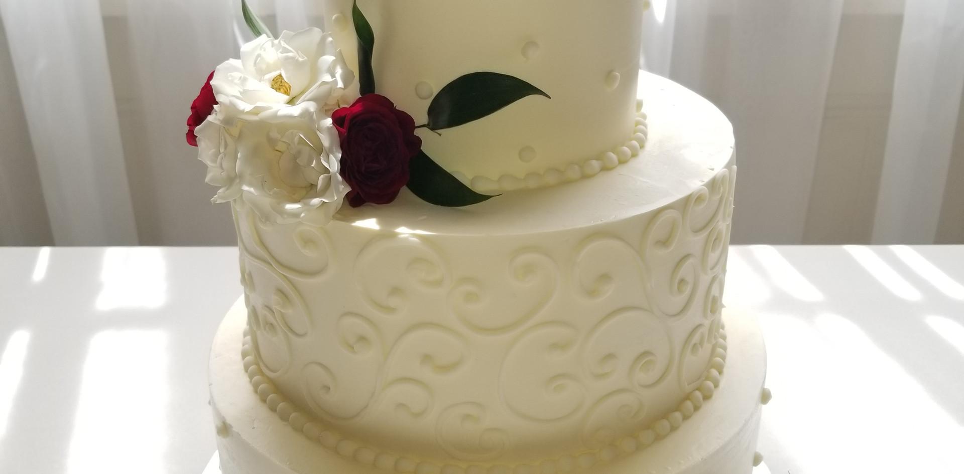 Swirl Dot Wedding cake