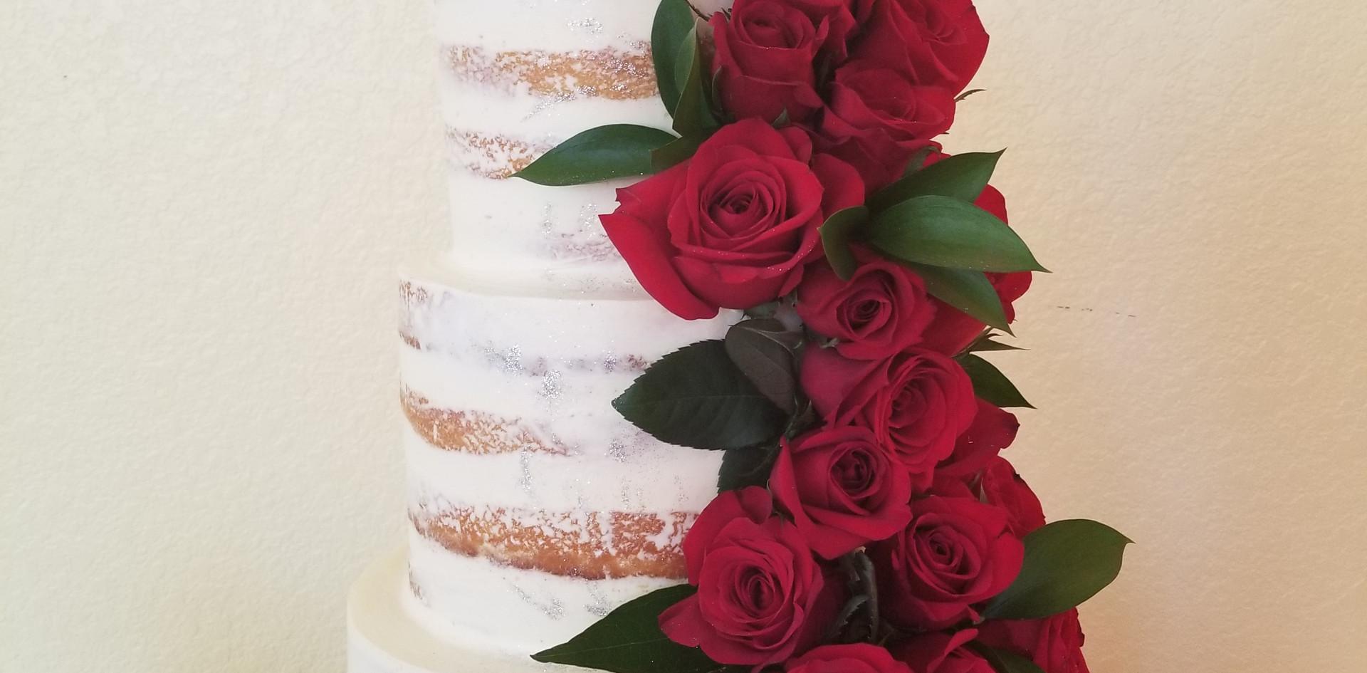 3 tier 25th anniversary cake