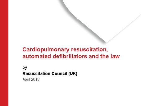 CPR, AEDs and the law - April 2018