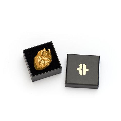 Herzerlanhänger gold glänzend