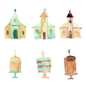 Baptism card icons