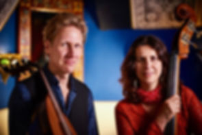 Daphna Sadeh (double bass) and Knud Stuwe (oud)
