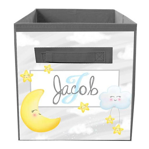Moon and Stars FABRIC BIN