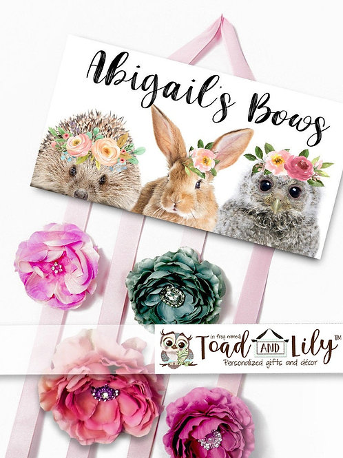 Floral Woodland HAIR BOW HOLDER
