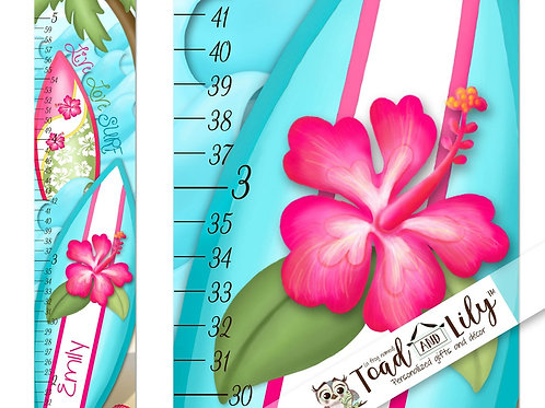Surfing Hibiscus Floral GROWTH CHART
