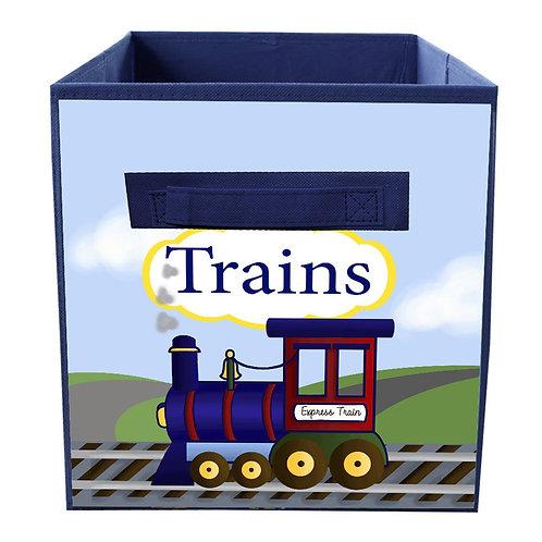 Trains FABRIC BIN