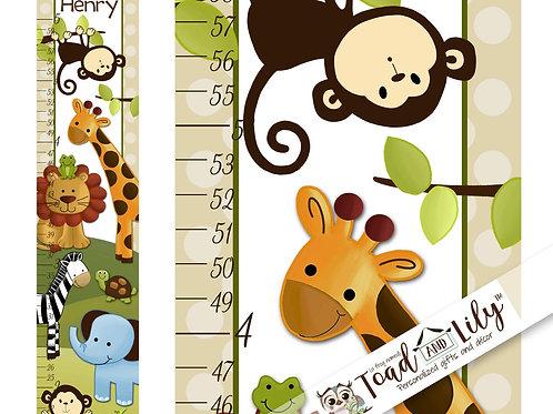 Jungle Animals GROWTH CHART