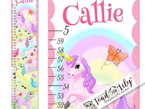 Rainbow Unicorn GROWTH CHART