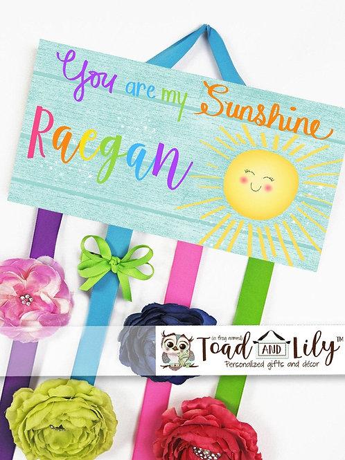 Rainbow Sunshine HAIR BOW HOLDER