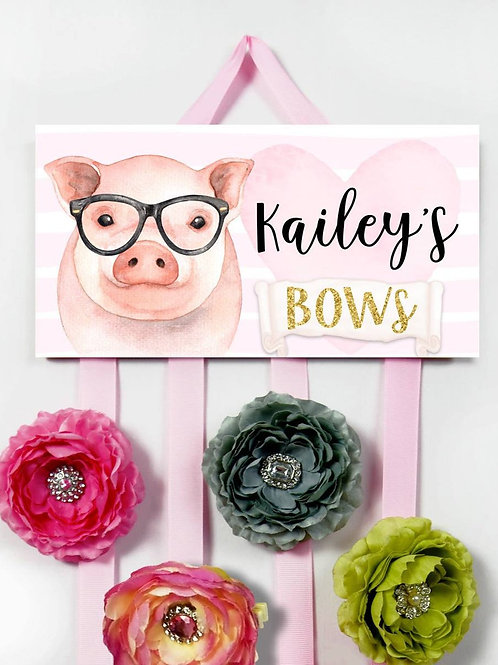 Pig HAIR BOW HOLDER