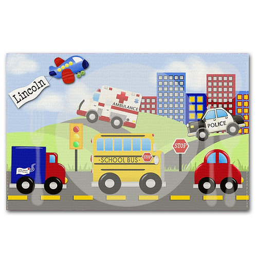 Lots of Vehicles LINEN PLACEMAT