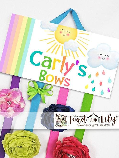Rainbow Sunshine HAIR BOW HOLDER