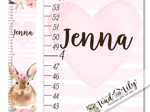 Floral Bunny GROWTH CHART