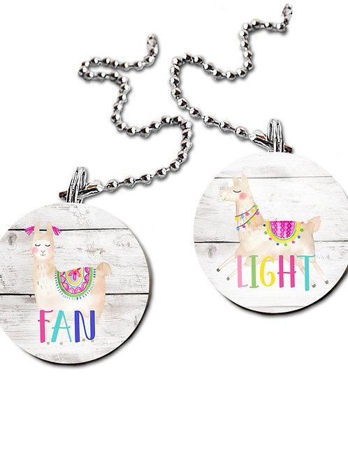 Rainbow Llama FAN PULLS