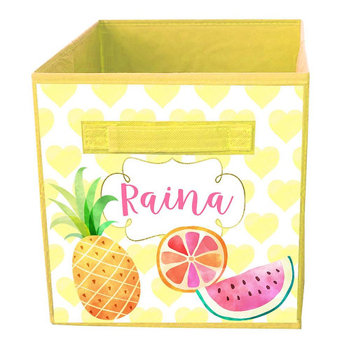 Tropical Fruit FABRIC BIN