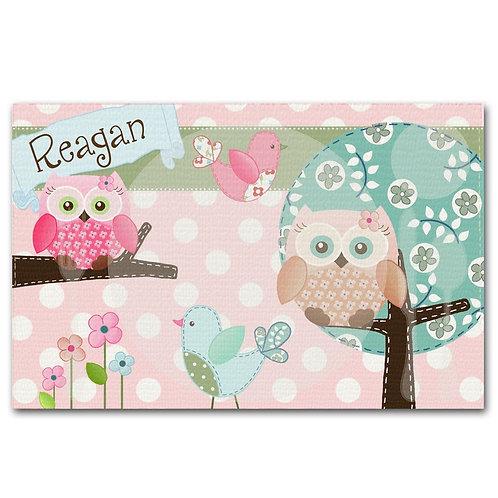 Sweet Owls LINEN PLACEMAT