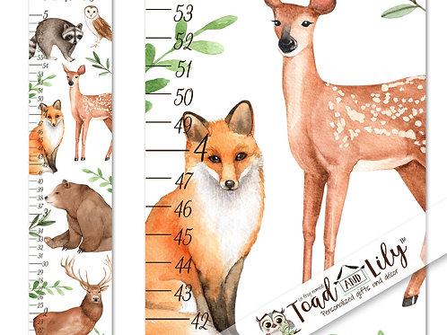Woodland Animal GROWTH CHART