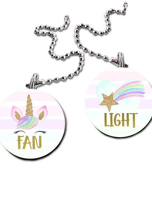 Rainbow Unicorn FAN PULLS