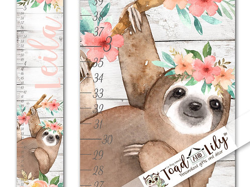 Floral Sloth GROWTH CHART